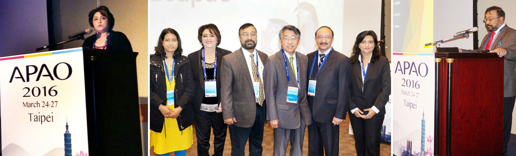Chinese Taipei for the 31st Asia-Pacific Academy of Ophthalmology Congress (APAO) from  24th -27th March , 2016.